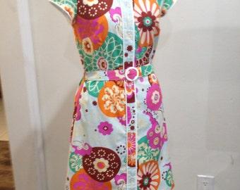 Pinup Dress, Japanese Dress, Kimono Dress, Kimono Pattern, Japanese Kimono, Housewife Dress, Asian Dress, Floral kimono, Psychedelic