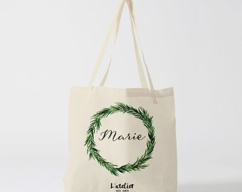 W9Y Tote bag personalized wedding, bag canvas tote bag bridesmaid, bridesmaid gift, tote bag evjf