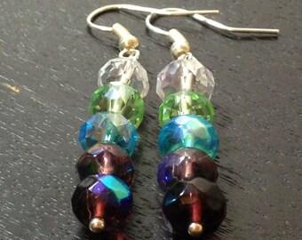 Cool Colorwheel Earrings