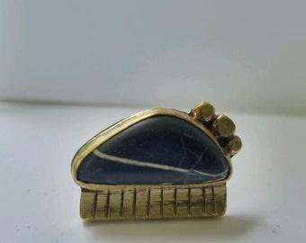 Warrior Ring  Buffalo Turquoise & Brass
