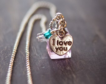 Essential Oil Girl's I Love You Necklace