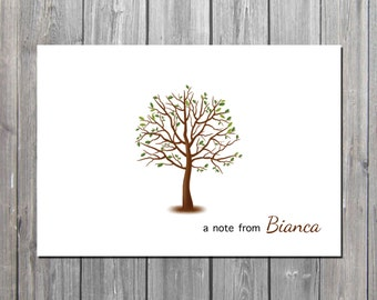 Personalized  Spring notecard/teacher notecard/Spring notes/PROFESSIONALLY PRINTED