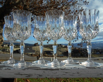 "Royal Crystal Rock 'Opera' Lead Crystal Water Goblets, 2-7/8"" Diameter x 7-1/2"" Tall, Set of 6"