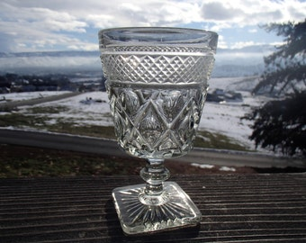 """Imperial Glass of Ohio 'Cape Code - Clear' Water Goblet with Wafer Stem, 3-1/8"""" Diameter x 5-1/4"""" Tall"""
