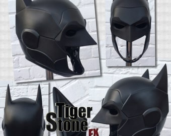 READY TO SHIP: Batman Armored New 52 inspired cowl (head piece) / mask for your cosplay costume (various colors available)