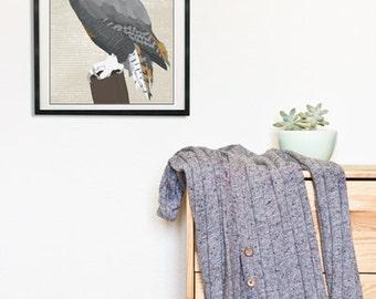Great Horned Owl Poster Digital Art Print