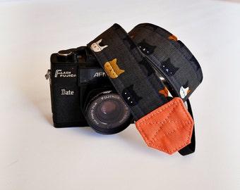 Cat camera strap, SLR DSLR camera strap, photographer gift, cute camera strap, canon camera strap
