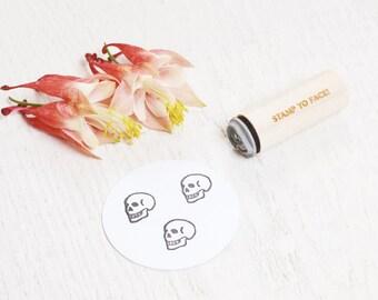 Skull - Mini Rubber Stamp