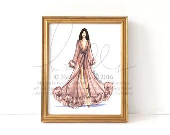 Banton (Couture Fashion Illustration Print)