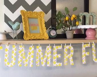 "6"" Lemony ""Summer Fun"" Banner"