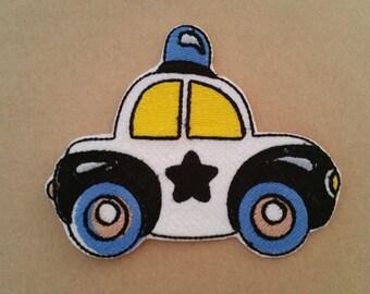 Police car applique Police car patch Car iron on patchPolice car iron on appliquePolice car sew on patchChildren car applique Kids car patch