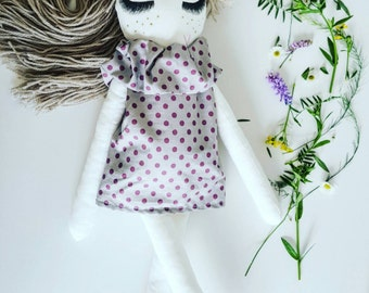 Handmade doll-cotton doll-rag doll-dolly-girls doll-toy-toy for a girl-birthday-baby doll-cloth doll-dressed doll-kids good-baby goods-top