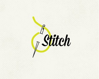 One of a kind logo, Sewing logo, Stitch logo, Needle logo, Pre made logo, Identity design, Professional business branding, ooak logo