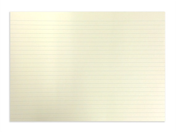 Horizontal lined paper