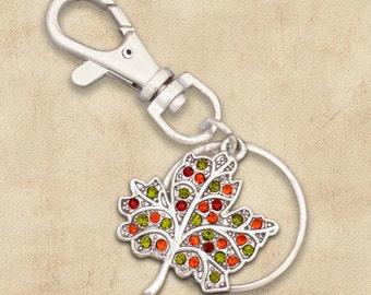 Autumn Leaf Keychain
