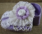 "Felt Box/Party Favors/Wedding Favors/Gift Box/ Home Decor/Jewelry Box:""Heart & Lace"""