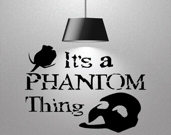 Vinyl Phantom Decal, Wall Decor, Vinyl Wall Decal, Phantom of the Opera Decal,