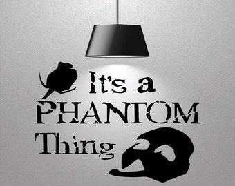 Vinyl Phantom Decal, Wall Decor, Vinyl Wall Decal, Phantom of the Opera Decal,