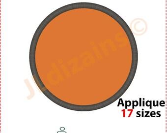 Circle Applique Design. Circle embroidery design. Circle shape applique. Circle shape embroidery Embroidery circle Machine embroidery design