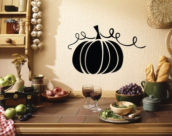 Thanksgiving, Thanksgiving Wall Decal, Pumpkin Decal, Fall Decal, Autumn, Thankful, Give Thanks, Kitchen, Turkey Day, Party, Home Decor