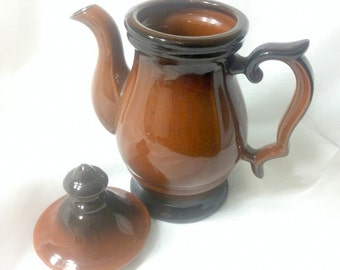 Shades of Brown vintage Coffee or Tea Pot, 4 cup capacity