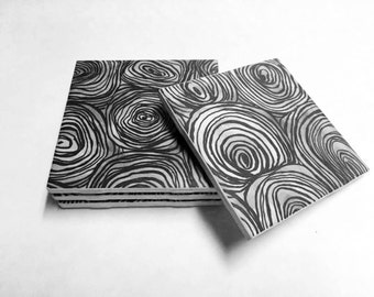 Black and White Coasters - Home Decor - Drink Coasters - Tile Coasters - Ceramic Coasters - Table Coasters On Sale