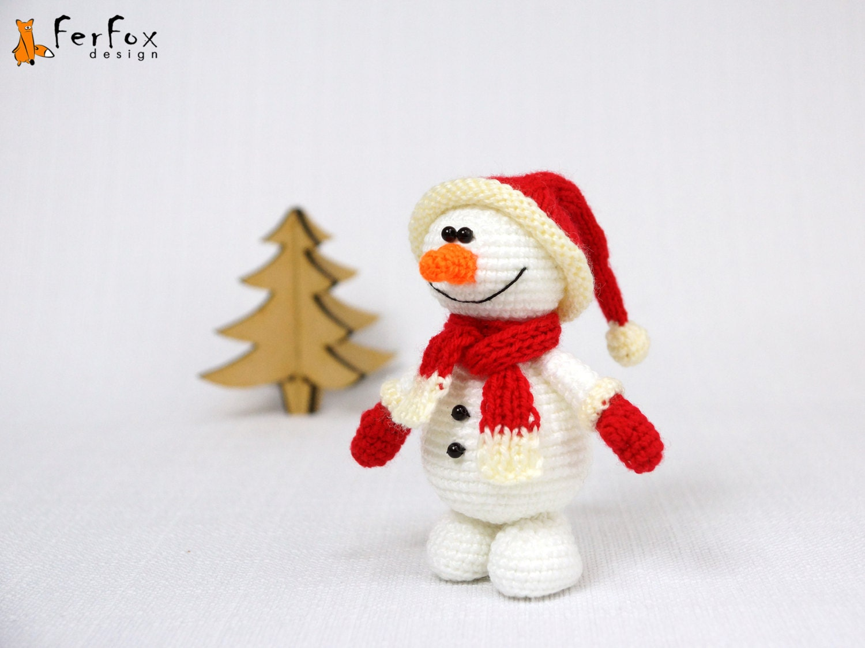 Crochet bonhomme de neige au crochet amigurumi par - Bonhomme de neige au crochet ...