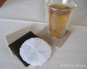 Smores Plastic Canvas Coaster Set