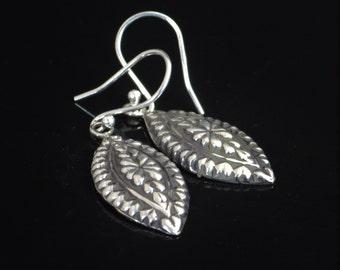 Floral Statement Earrings, Floral Earrings, Bohemian Earrings, boho earrings, Tribal Earrings,Silver Earrings,Marquee Earrings,Drop Earrings