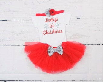 baby girls first Christmas baby girls first Christmas outfit babys first Christmas babys first Christmas outfit newborn Christmas outfit