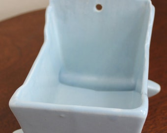 Baby Blue Vintage Haeger Cradle Planter Baby Gift Baby Room Decor