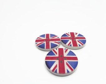 Union Jack buttons, patriotic buttons, British buttons, uk button supplies, sewing supplies, cardmaking supplies, scrapbook supplies