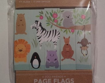 Zoo Friends Page Flags