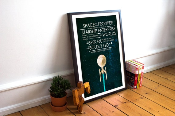 Captain's Oath Wall Art | Star Trek Gift Guide