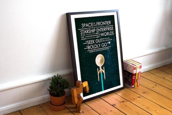 Captain's Oath Wall Art | Star Trek Gift Guide