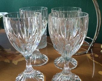 Set of 4 Park Lane Crystal Wine Glasses by Mikasa