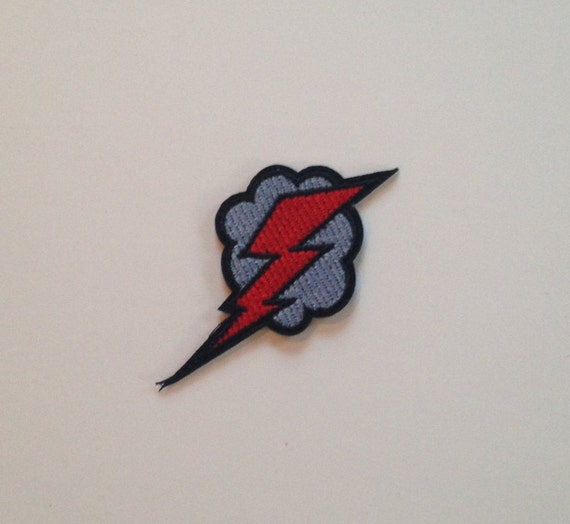 Comic Book Style Lightning Iron on Patch