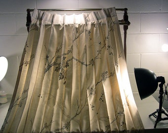 vintage drapes silky drapes mid century drapes pinch pleat drapes mid century curtains silky