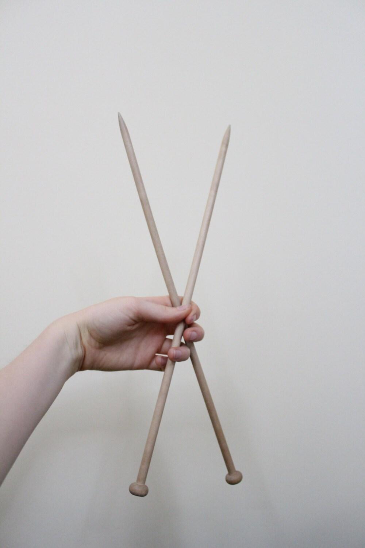 Knitting Needle Size 8 : Metric size wooden knitting needles vintage