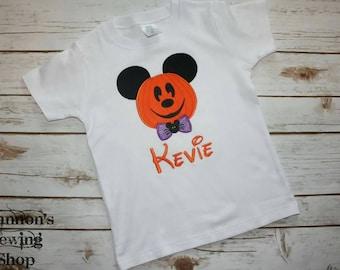 Halloween Pumpkin Mouse Shirt, Halloween Mickey Shirt