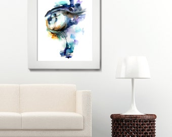 Abstract Eye Painting, Modern Watercolor Painting Art Print, Modern Home Decor, Abstract Art