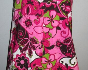 Womens Paisley 70's Floral Hippie Mini Dress