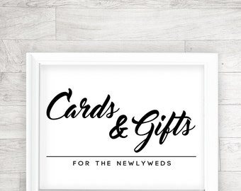 Wedding Printable, Cards and Gifts, Wedding Reception, Signage, Table Card - INSTANT DOWNLOAD - 8x10