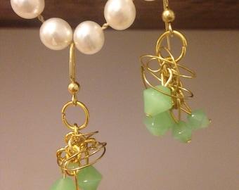 Chandelier Gold Wire Earrings