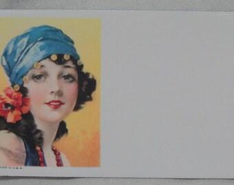 Glamorous Lady, Blotter Sample, 1940's, Ad Samples Art