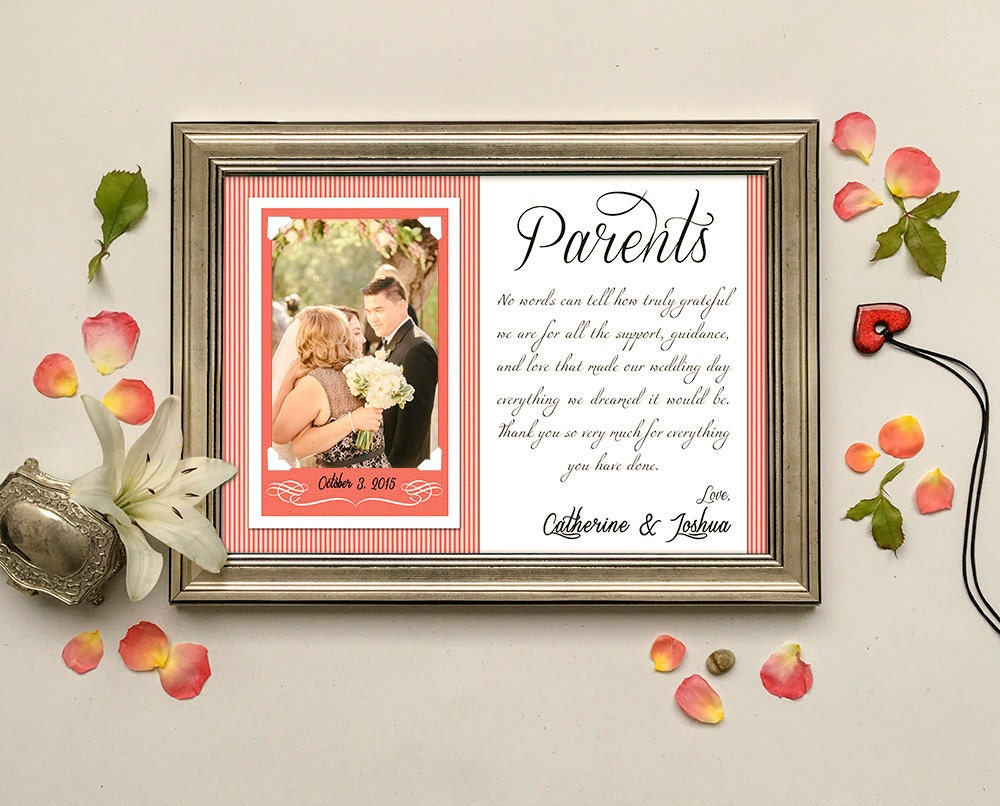 Thank You Gifts For Parents At Wedding: Parents Wedding Gift-Parents Thank You Gift Wedding Gift For