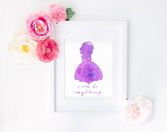 Sofia the First Quote 8x10 Watercolor Print