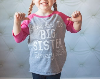 promoted to big sister shirt, pregnancy announcement shirt, soon to be big sister shirt, new baby announcement, big sister announcement