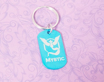 Team Mystic Keychain - Pokemon Go - Pokemon Master - Pokemon Trainer - Blue Team - Mystic Pride - Pokemon Team - Articuno