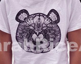 Panda shirt - panda - T-Shirt - Panda Shirt - Short Sleeve Shirt - Shirt - white panda - white shirt - Short sleeve Shirt